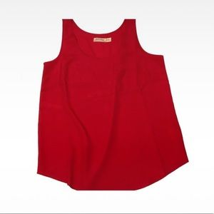 Tops - 💥 NWOT, Red Silky Tank Top Blouse, Pocket